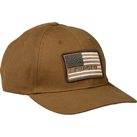 one size hat leupold flag twill hat brown one size 170582 b h photo