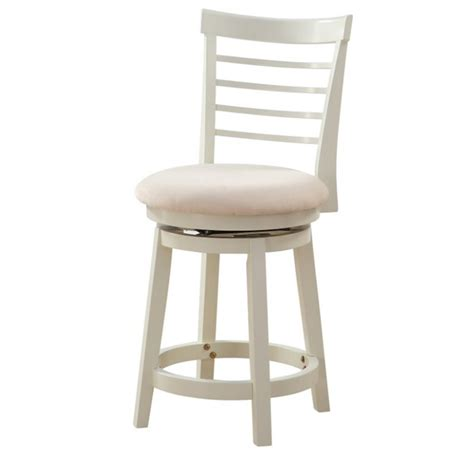 Counter Stool White by Powell Furniture Harbour 24 Swivel Counter Stool In