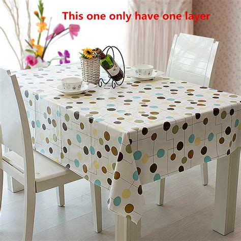 wipe clean flannel pvc waterproof tablecloth dining
