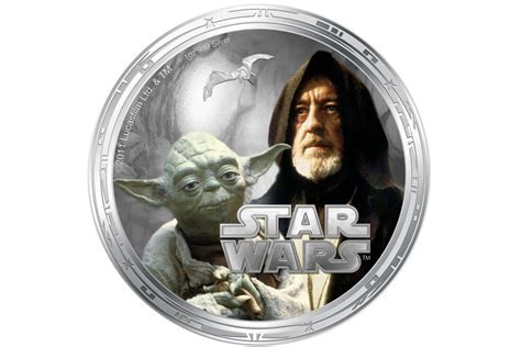 Coin Starwars wars characters come printed on coins extravaganzi