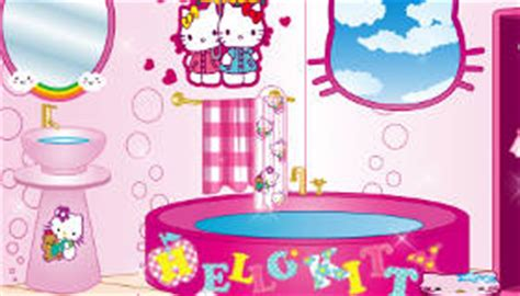 hello kitty bathroom games hello kitty bathroom decoration game my games 4 girls