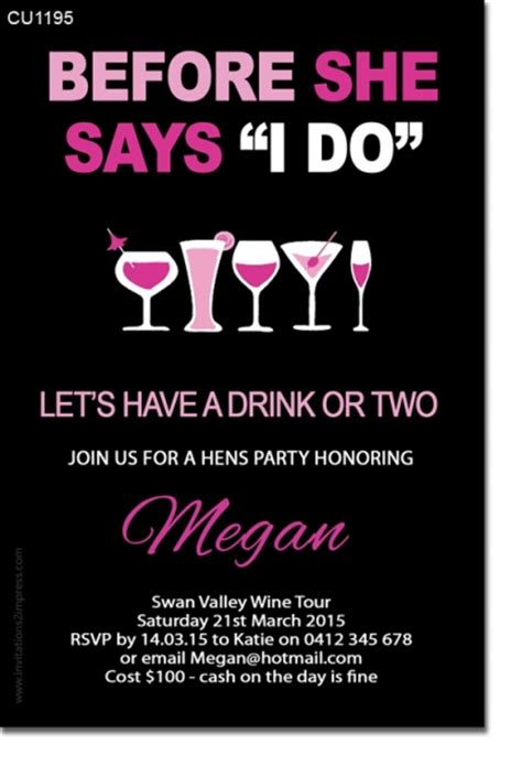 templates for hens night invitations free invitation templates hens night choice image invitation