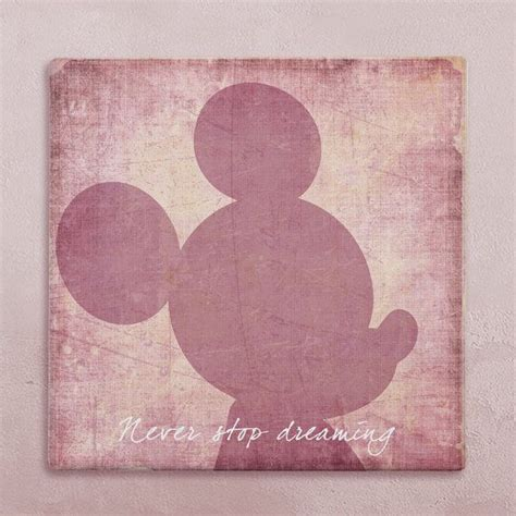 disney wall canvas in vintage style mickey mouse