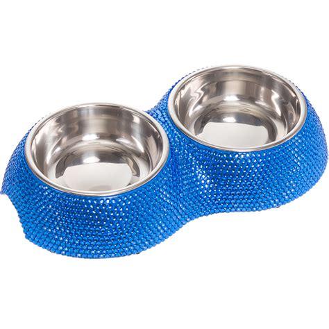 Stainless Steel Feeder Bowl rhinestone stainless steel small fashion pet bowl feeder ebay