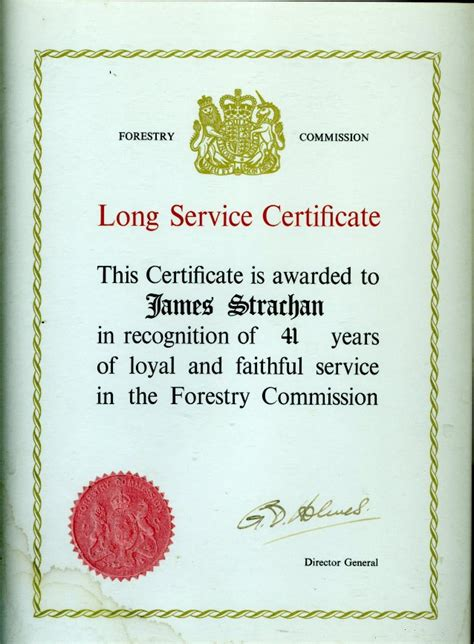 long service award certificate exles choice image