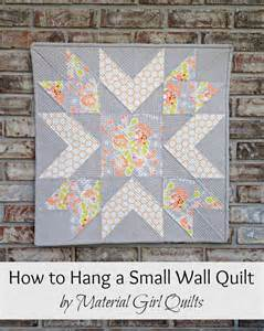 how to hang a small wall or mini quilt material quilts