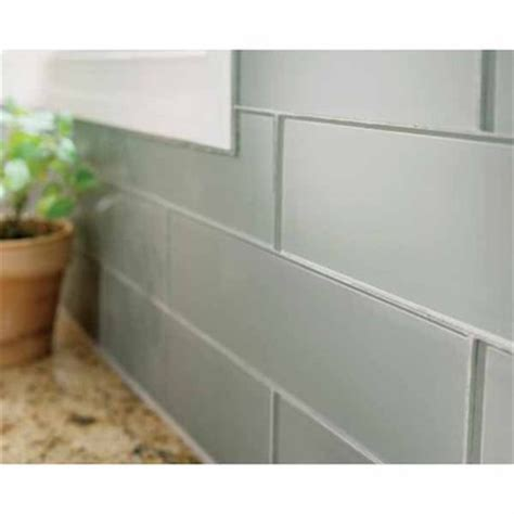 Black Friday Carpet Deals by Lowes Deal Allen Roth 3 X 12 Smoke Glass Wall Tile