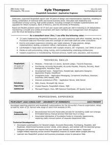 Technical Program Manager Resume Sle by Technical Director Resume Sales Technical Lewesmr