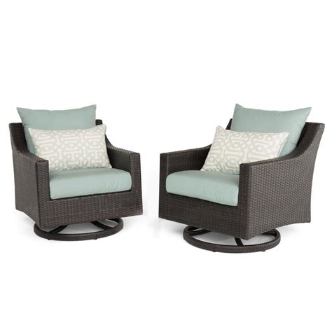 Patio Chairs Motion Rst Brands Deco 2 All Weather Wicker Patio Motion