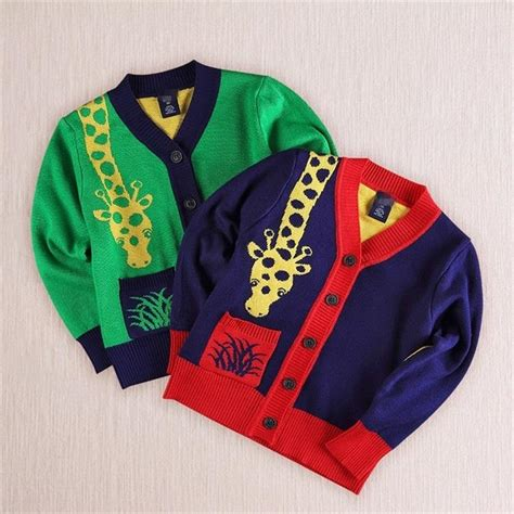 giraffe pattern clothes baby boy giraffe clothes knit cardigan sweater cartoon