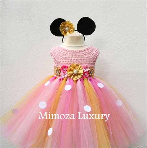 Flowery Dress Minnie Mouse 3th Minnie Mouse Dress Minnie Mouse Birthday Dress Flower
