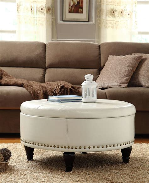 white ottoman coffee table white leather ottoman coffee table coffee table design ideas