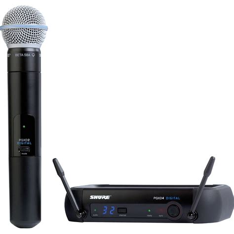 Shure Slx 24beta58 Wirelees Microfone shure pgxd digital series wireless handheld pgxd24 beta58 x8 b h