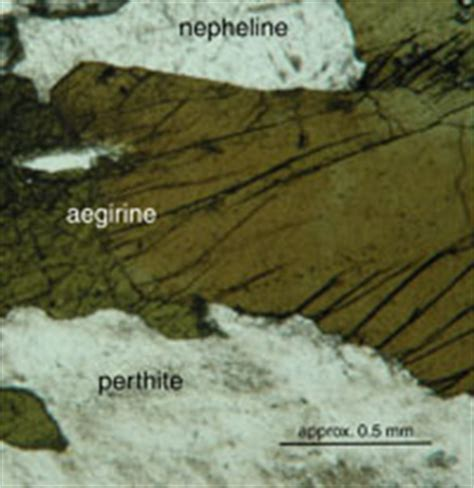 pyroxene thin section properties aegirine