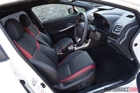 subaru wrx interior 2016 2016 subaru wrx sti review track test video