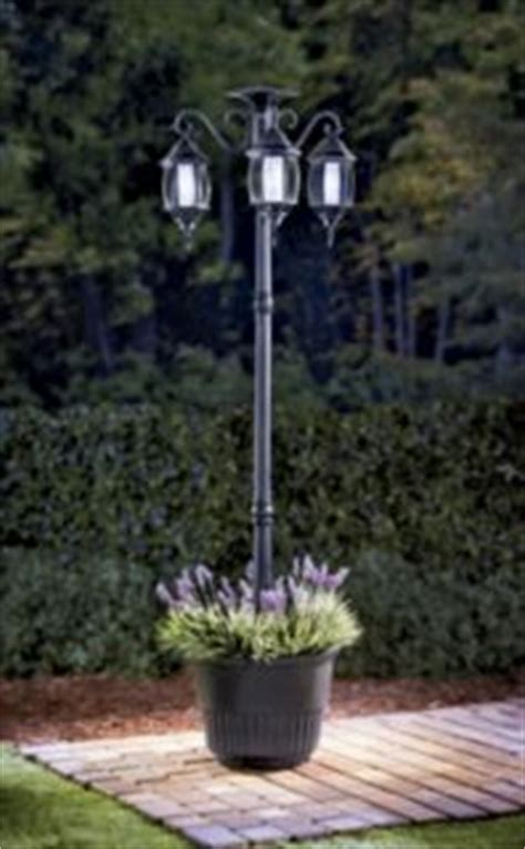 Solar L Post Light Planter by Outdoor L Posts On Light Posts Ls And