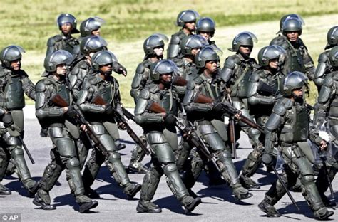 brazil military police uniform brazilian police s security advice to world cup fans as