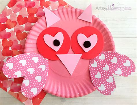 Paper Craft Ideas For Valentines Day - charming s day owl craft artsy momma