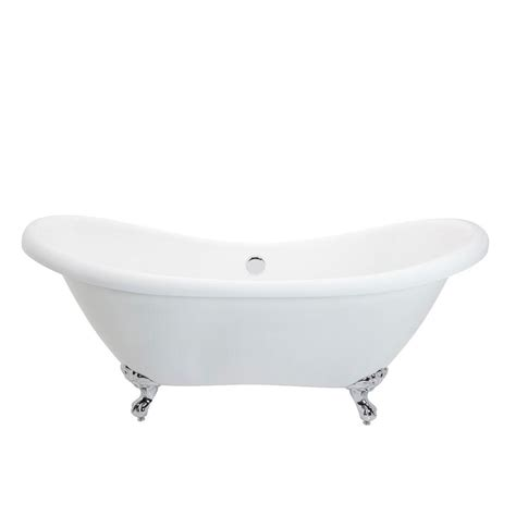 Bathtub With Center Drain by Anzzi Aegis 5 7 Ft Acrylic Center Drain Freestanding