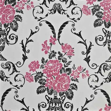Hello Kitty Themed Bedroom by Damask Wallpaper Bedroom Pink And Black Damask Pink And