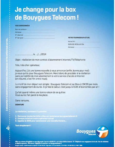 Lettre De Résiliation Mobile Bouygues Telecom Bouygues Telecom D 233 Voile Une Pub Vous Permettant De R 233 Silier Votre Abonnement