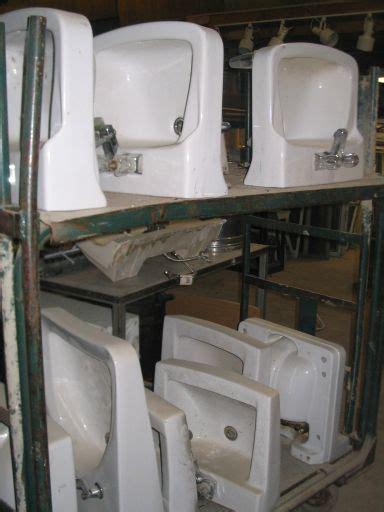 Salvage Bathroom Fixtures Porcelain Sinks Gagnon Demolition
