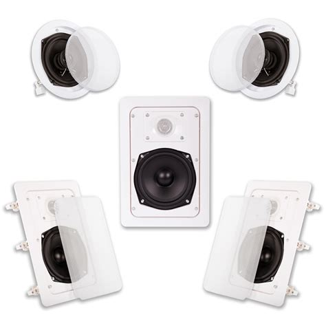 acoustic audio ht 55 in wall in ceiling 1000 watt home