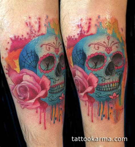 watercolor tattoo skull 117 best images about tatoo on watercolors