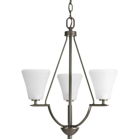 Progress Lighting Seeded Glass Collection 3 Light Antique Entryway Pendant Lighting