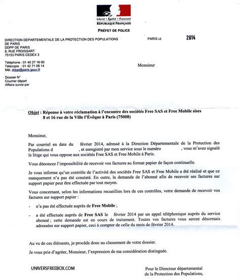 Free Mobile Lettre De R Clamation envoi automatique des factures papier chez free un