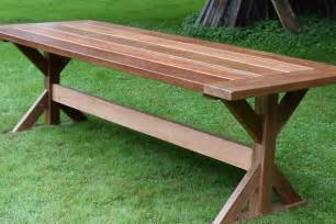 Outdoor Patio Tables The Mahogany Outdoor Dining Table Trestle Table