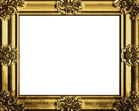 vintage frame templates for photoshop antique gold frame 04 vector free vector 4vector