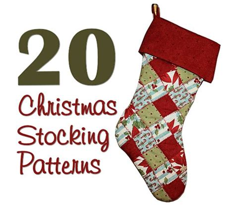 easy pattern for a christmas stocking round up hidden treasure crafts and quilting