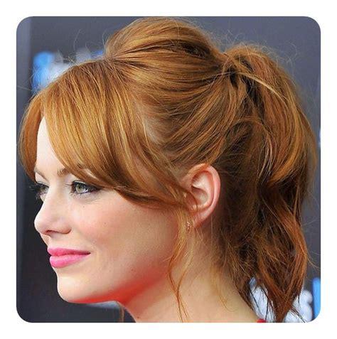 ponytail hairstyles no bangs 97 amazing ponytail with bangs hairstyles