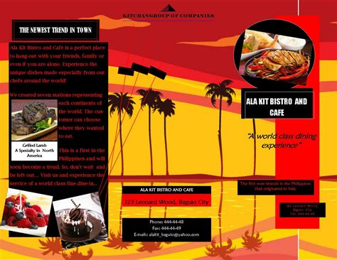 desain brosur pariwisata contoh contoh brosur info ajibon