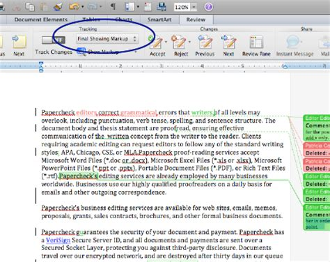 How To Markup A Word Document microsoft track changes word 2011 mac
