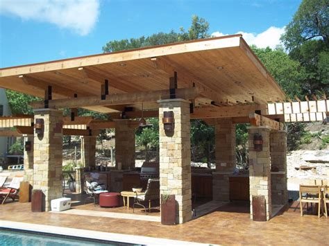 Cozy Wooden Covered Patio Myhomeimprovement Pergola Pictures Of Covered Patios