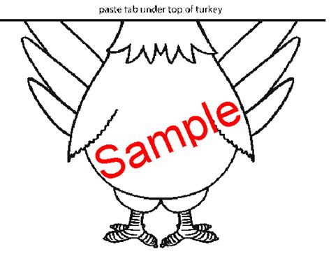 turkey template for bulletin board november homework package