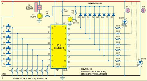 circuit design contest questions latch 8 candidate buzzer circuit electrical
