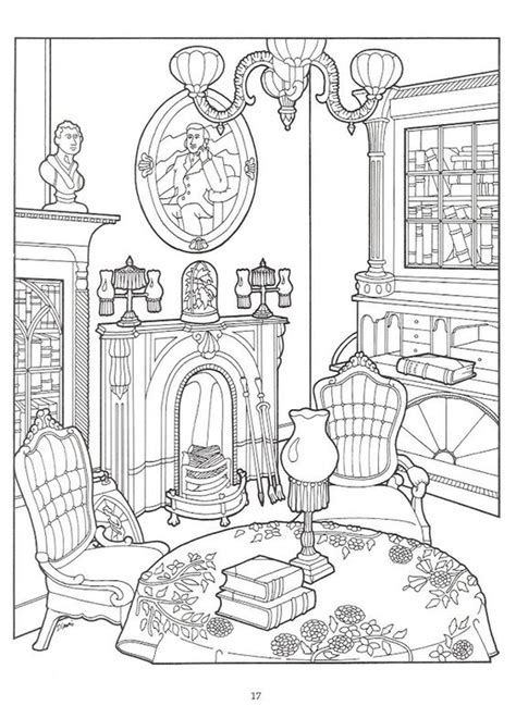 coloring pages for adults victorian the living room in victorian house difficult coloring