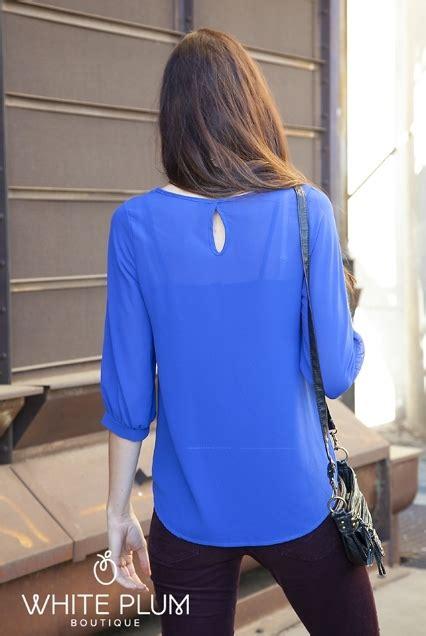 Blouse Denim 5488 pleated blouse 3 color options