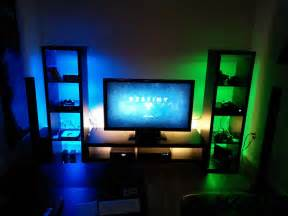 26 Awesome Green Bedroom my ps4 xboxone gaming setup gaming