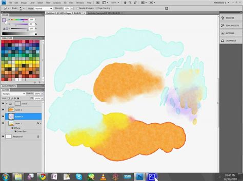watercolor tutorial photoshop cs5 watercolor painting in adobe photoshop part 6 5 youtube