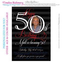 mens 50th birthday printable milestone by creativestationery