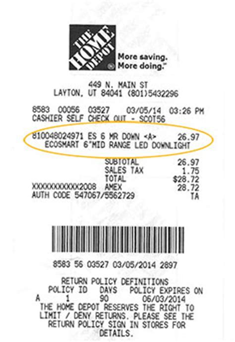 home depot receipts templates frequently asked questions home energy savings