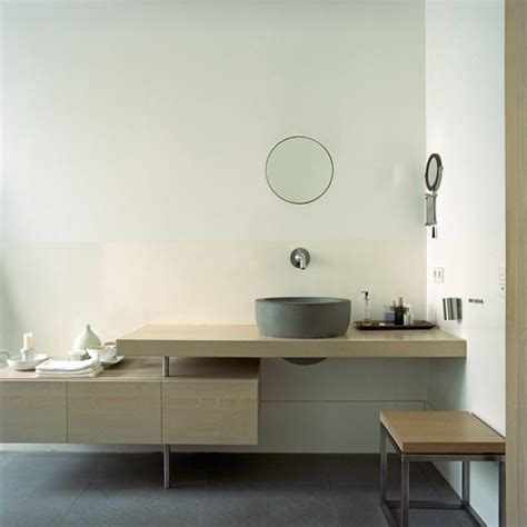 minimal bathroom with streamlined cabinetry bathroom