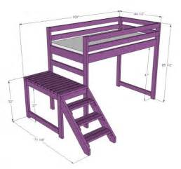bunk bed blueprints with stairs loft bed plans with stairs bed plans diy blueprints