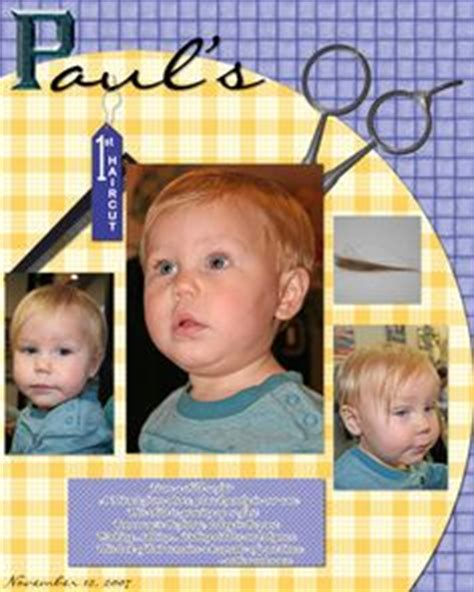 scrapbook layout for first haircut 1000 images about scrapbook layouts on pinterest first