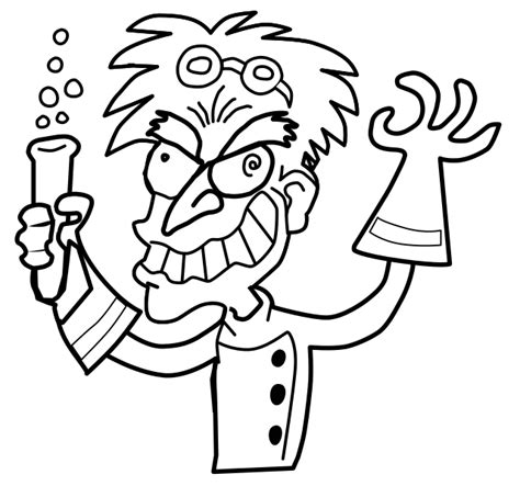 mad science beaker coloring pages coloring pages