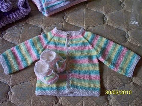 batita de bebe en dos agujas betty a dos agujas batita rayada